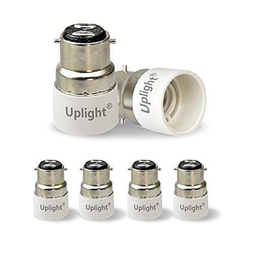 Uplight Adattatore da B22 a E14,Conversione Portalampada B22 a E14 Adattatore per lampadine a LED e lampadine a incandescenza,6 Pezzi.