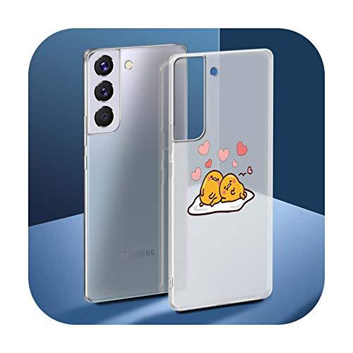 Gudetama - Funda para Samsung Galaxy S20 FE S9 S10 Plus S21 Ultra S8 S7 Edge Silicona Mate Cover - S05-para Samsung S21Ultra