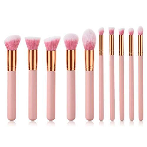 MEISINI Maquillage Pinceau Ensemble Rose Fondation Blush Poudre Cosmétique Maquillage Pinceaux Contour Surligneur Pinceau Outils Ensemble