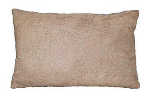 douceur d'intérieur 1604405 Coussin Suède Polyester/Fibre Sable 30 x 20 x 50 cm