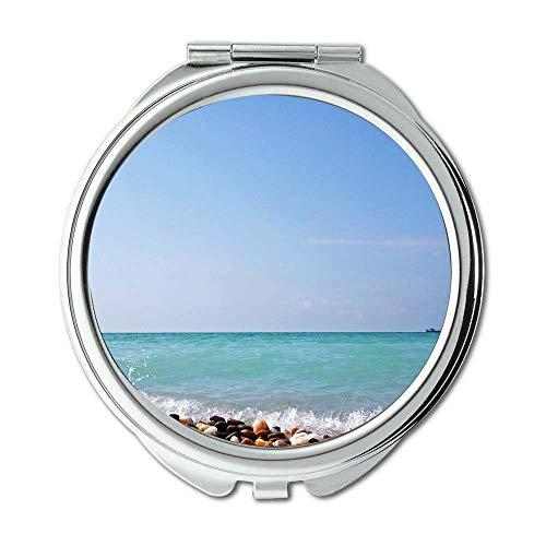 Yanteng Spiegel, Reise-Spiegel, Strand Wolken Tageslicht, Taschenspiegel, tragbarer Spiegel