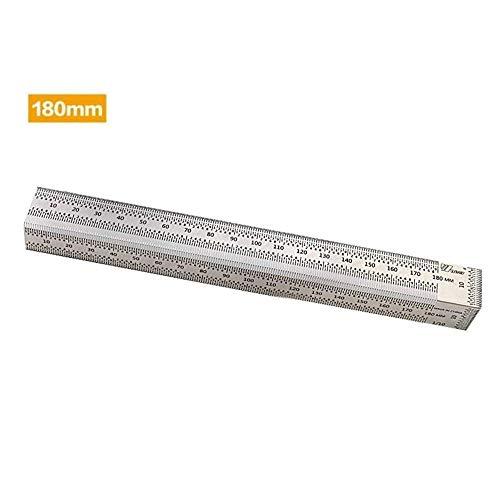 SNOWINSPRING Stainless Steel Ruler 12 6 Metal Rulers