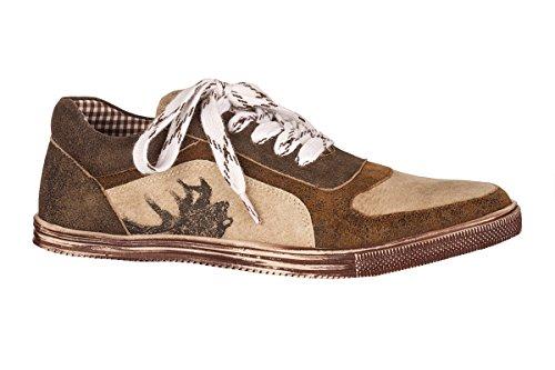 Spieth & Wensky Trachten Herren Sneaker - IMANUEL - blau, braun, Größe 39
