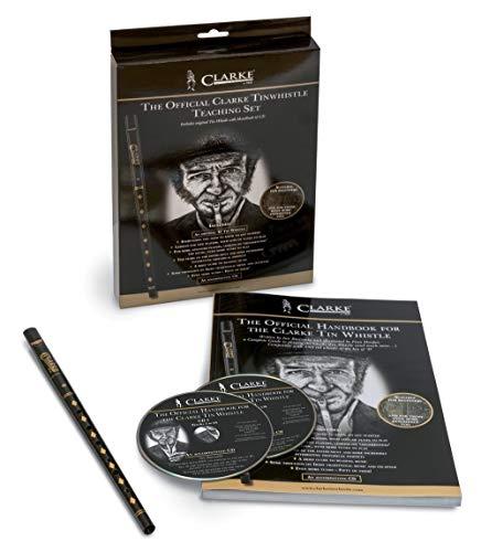 Clarke 700555 The Original Pennywhistle chiave Re - Starter Set Tin Whistle con manuale e CD