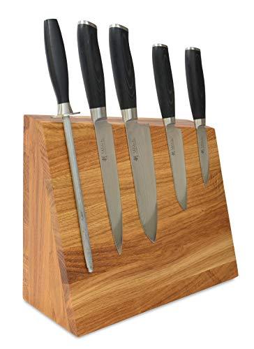 Natuhr Messerblock Holz - Pit - Eiche Magnetischer Messerhalter Messerständer unbestückt