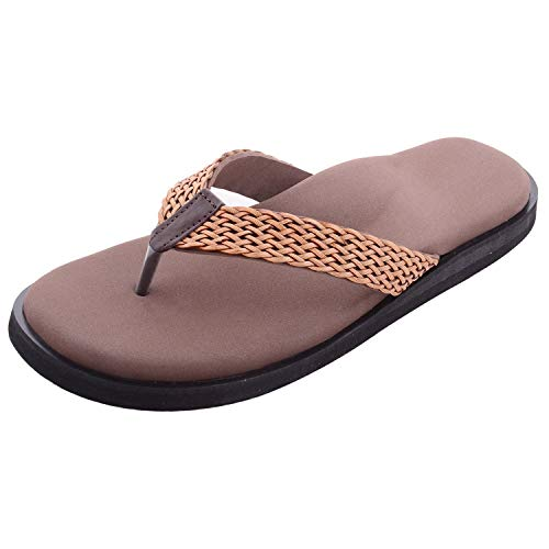 Dia One Orthopedic Sandal RUBBER Sole MCP Insole Pain Relief Diabetic Footwear Ladies Chappal for Women (Dia_96_P) Price in India