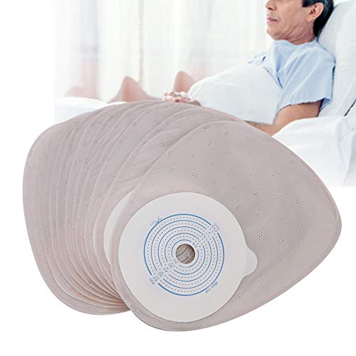 Ostomy bag, colostomy bag, drainage bag one-piece system ostomy bag one-piece system ostomy bag bag ostomy cover urine without activated carbon 20-60mm for colostomy care(1#)