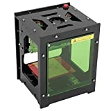 NEJE Laser Engraver Printer, 1500mW 490x490 Pixel USB Mini Engraving Machine Dual USB Socket Acrylic Filter with Magnetic Suction