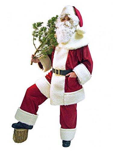 Santa Klaus Papá Noel Traje De Alta Calidad Oveja Peluche-rústico