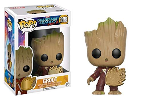 Funko POP! Marvel Guardianes de la galaxia 2: Groot con escudo