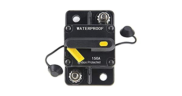 ANJOSHI 150Amp Circuit Breaker 50A-300A with Manual Reset Fuse Inverter for Car Audio Stereo Switch and Solar Inverter System Protection 12V-36V DC Fuse Holder