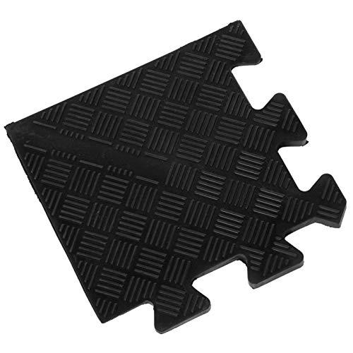 Alfombrilla de ejercicio Buffer Alfombrilla de goma fácil de instalar Duradera, para fitness(Corner pad 19 * 19cm five pieces)