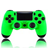 eXtremeRate Neon Green Faceplate Cover, Soft Touch Grip Front Housing Shell, Comfortable Non-Slip Replacement Kit for PS4 Slim PS4 Pro Controller (CUH-ZCT2 JDM-040/050/055) - Controller NOT Included