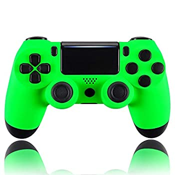 eXtremeRate Neon Green Custom Faceplate Cover for PS4 Slim Pro Controller Soft Touch Front Housing Shell Case for Playstation 4 Controller CUH-ZCT2 JDM-040/050/055 - Controller NOT Included