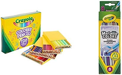 Crayola Colored Pencils No Repeat Colors 120 Count Gift Crayola Metallic FX Colored Pencils product image