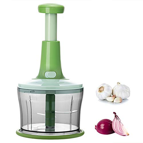 XIAOLI Manual Vegetable Cutter, Masher, Salad Spinner, Dehydrator, Vegetable Washing Artifact, Meat Grinder, Children's Food Supplement Cooking Machine