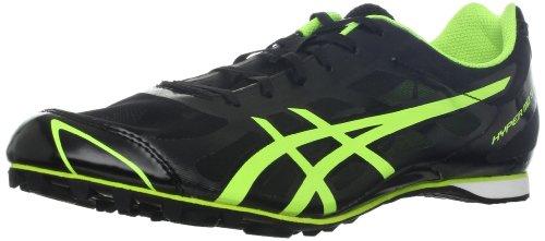 ASICS - Männer Leichtathletik Hyper Md 5 Schuhe In Schwarz/Gelb-Flash, EUR: 40.5, Black/Flash Yellow