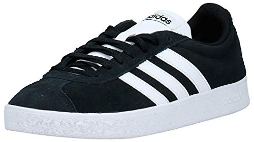 adidas Herren VL Court 2.0 Fitnessschuhe, Schwarz (Negbas/Ftwbla 000), 44 EU