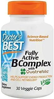 Doctor's Best, Fully Active B Complex with Quatrefolic, 30 Veggie Caps