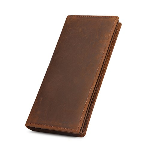 Our #2 Pick is the Kattee Men's Vintage Genuine Leather Checkbook Wallet