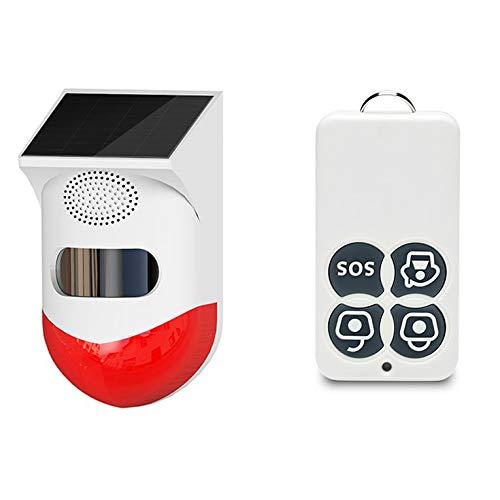 Alarma solar Detector de movimiento 120db Sirena de seguridad de sonido IP65 impermeable