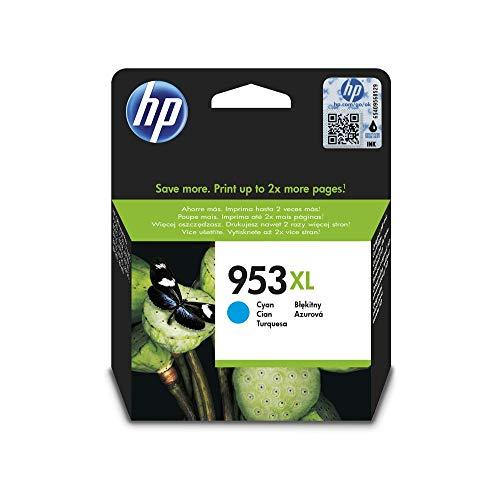 HP 953XL Cyan Original Druckerpatrone mit hoher Reichweite für HP Officejet Pro 7720, 7730, 7740, 8210, 8710, 8715, 8720, 8725, 8730, 8740