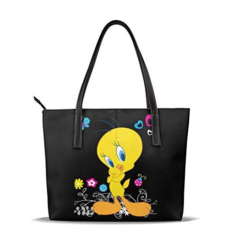 Tweety-Bird Damen 'S High-End Handtaschen wasserdichte und langlebige Umhängetasche aus Leder mit großer Kapazität