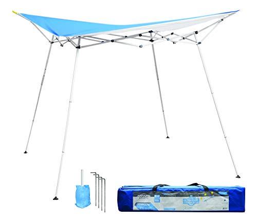 Caravan Canopy EVO08021 8' x 8' Evo Shade Instant, Blue Top/White Frame Canopy