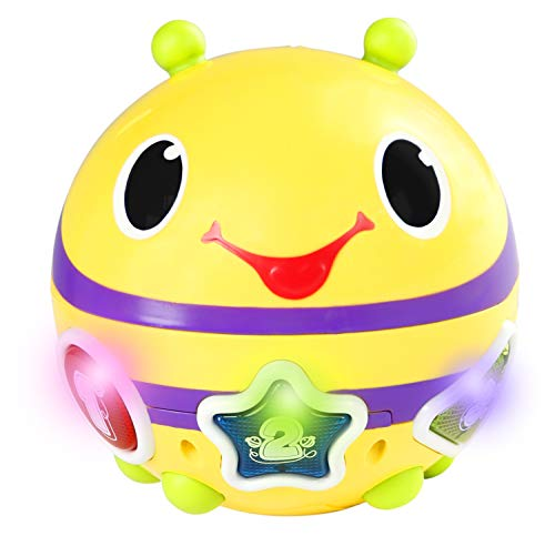 Bolinha Roll & Chase Bumble Bee, Bright Starts, Amarelo/Roxo