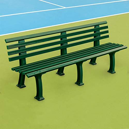 Vermont Plastic Tennis Court Benches [Two Or Three-Seater] – Green Or White Professional Benches (Green, Two Seater)