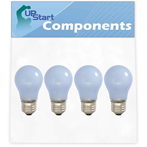 4-Pack 241555401 Refrigerator Light Bulb Replacement for Frigidaire FRT18L4JW9 Refrigerator - Compatible with Frigidaire 241555401 Light Bulb