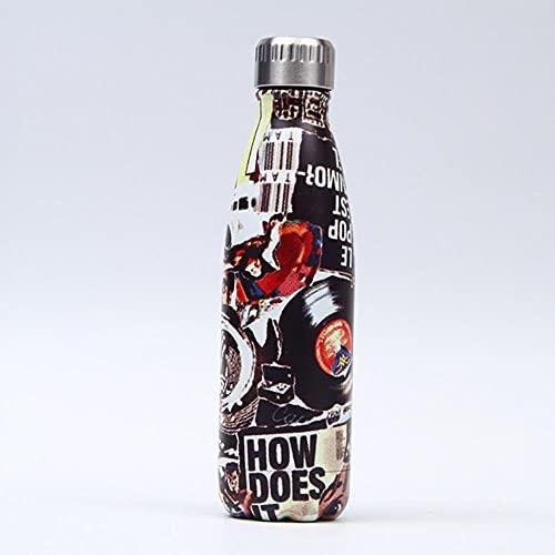 Frasco de vacío con aislamiento de doble pared de 500 ml, termo, botella de agua de acero inoxidable, botella de regalo de Navidad, ESPAÑA, 202