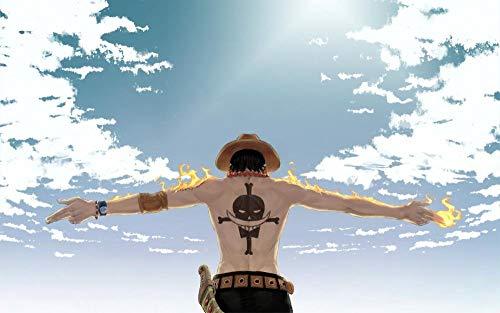 Slbtr [Últimas Noticias] DIY Lienzo Pintura - One Piece Luffy -Pintura por Numero Kits Decoración del Hogar 16*20 Pulgadas Regalos para Principiantes Amigos Y Niños En Pintura- Sin Marco