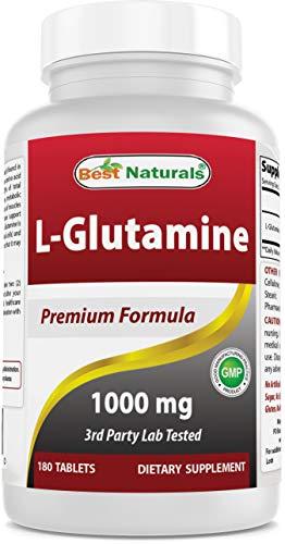 Best Naturals L-Glutamine 1000 mg 180 Tablets - Glutamine fuel for workout...