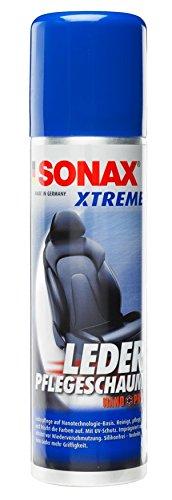 SONAX XTREME LederPflegeSchaum (250 ml) silikonfreie Reinigung und Pflege für Glattleder | Art-Nr. 02891000