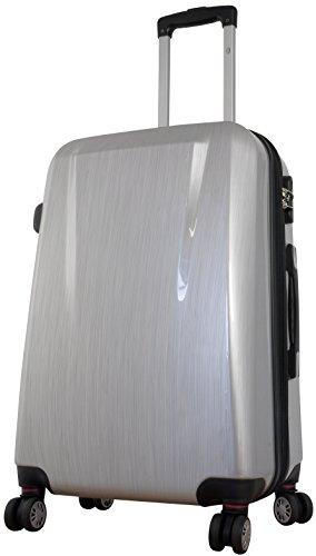 Polycarbonat Koffer Wellington Gr. M+XL 56+75cm, 35+93 Liter, 4 (Silber)