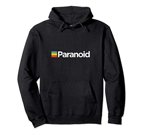 Paranoid Polaroid Parody Logo Pullover Drawstring Hoodie