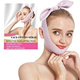Light Soft Face Slimming Strap,Skin-Friendly Reusable V Line Lifting Mask,Effective Double Chin Reducer Chin Lift Up Tighten Shaper,Skin Firm Bandage,Face Lifting Tape for Anti Aging Wrinkle Women