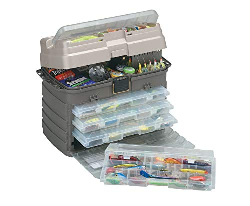 Plano Stowaway Tackle System, enthält Vier herausnehmbare Organisations-Aufbewahrungsboxen, Premium Tackle Storage