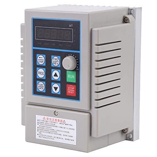 YELLAYBY Accionamiento de frecuencia variable VFD, controlador de velocidad VFD de la unidad de frecuencia variable 220VAC para motor de CA de 0.45KW de 220VAC