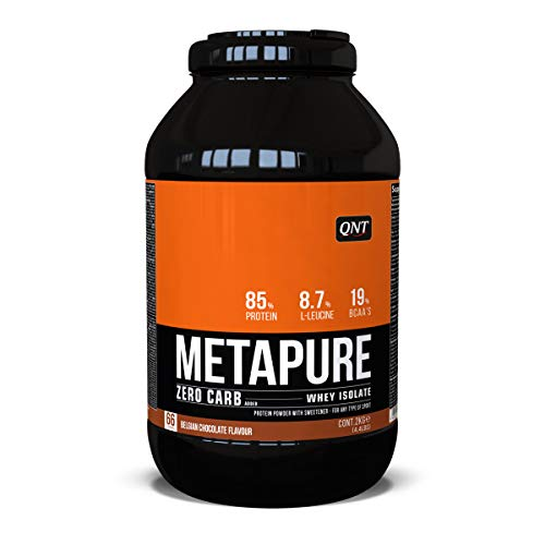 QNT Metapure Zero Carb Whey Isolate, Sabor Belgian Chocolate - 2000 gr