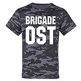 Männer und Herren Tarn T-Shirt Camo DDR Brigade Ostdeutschland Größe S - 3XL