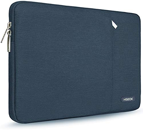 HSEOK 15,6 Zoll Laptop Hülle Tasche,Stoßfeste Wasserdicht PC Sleeve kompatibel mit die meisten 15,6 Zoll Laptops Dell/HP/Lenovo/Acer/Asus,Dunkelblau