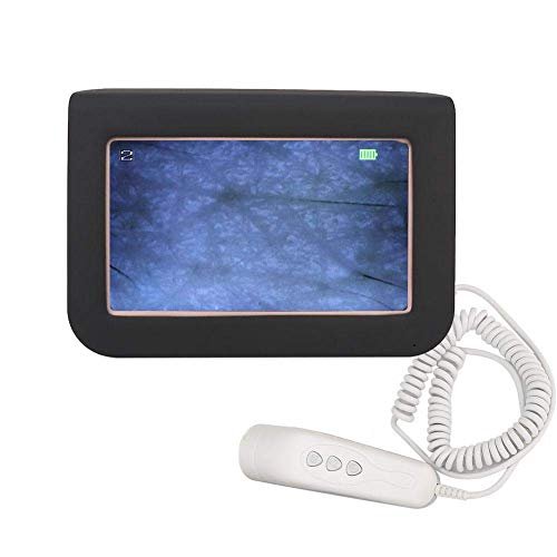 Pangding Valentine's Day Carnival Skin Scalp Detector, Wireless 50X 200X HD Hair Follicle Facial Body Skin Analyzer Professional Microscope Skin Care Health Machine Tool (#1)