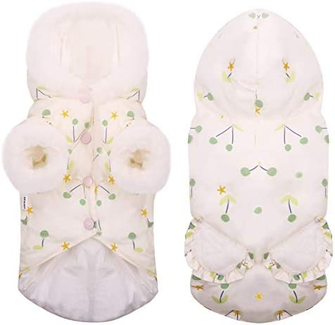 MIGOHI Dog Jacket Down Coat Puffy Hoodie Cloth Waterproof Lightweight Snowsuit for Small XS product image