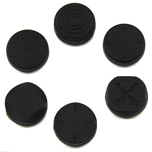 1 Set Analoger Silikon-Daumengriff Joystick-Kappen für PS Vita PSVita PSV 1000 2000 (schwarz)