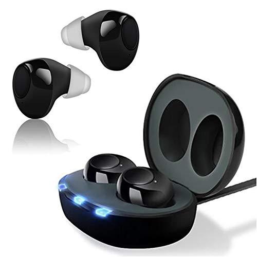 Mini Invisible Hearing Sound-Verstärker, Mit 3 Größen Earplugs, Typ Digital-Ton Für Ältere Menschen Hörverlust, Voice-Enhancer Mit Box Lade