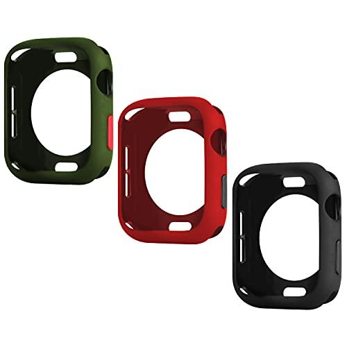 Wenearn 3 Pezzi Cover per Apple Watch 42mm Series 1/2/3, Protezione Custodia e Pulsanti Case, Ultra Sottile Paraurti TPU Protettiva Case Compatibile con Apple Watch 42mm