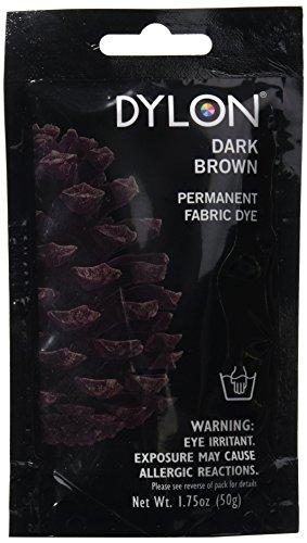 Dylon 87011 Permanent Fabric Dye, 1.75-Ounce, Dark Brown