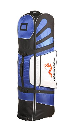 Woodworm Golf Deluxe Travel Cover With Wheels : Blue